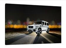 Mercedes G Wagon - 30x20 Inch Canvas - Framed Picture Print