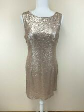 Lulus XL Gold Sequin Cowl Drop Open Back Sheath Dress Extra Large