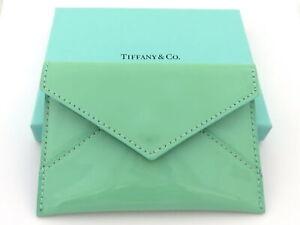 TIFFANY & CO Enamel Leather Card Case Never Used