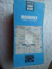 Carte IGN bleue 1545 O Mourenx 1996