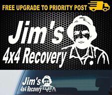 Jims Recovery Vinyl Decal Sticker Ute 4x4 Funny Jeep PATROL NAVARA TRITON 200mm