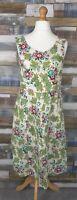 Klass Collection Multicoloured Floral Pattern Linen Blend Dress Size UK 12