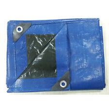 Blue Plastic Water Resistant 9-ft x 12-ft Standard Grade Aluminum Grommet Tarp