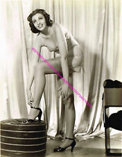 GLORIA BLONDELL - JOAN BLONDELL'S LEGGY SISTER, IN NYLONS AND A SLIP A-GBL