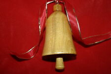 Vintage 1992 Alaska Artist Signed R. Gaul (Gayl?) Wooden Bell Christmas Ornament