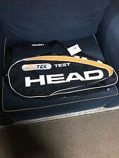 Rare! New Head YouTek Test 3 Pack Tennis Pro Bag Black White Orange Vintage