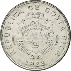 [#582559] Coin, Costa Rica, 2 Colones, 1983, AU(55-58), Stainless Steel