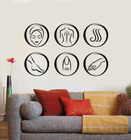 Vinyl Wall Decal Care and Beauty Spa Salon Massage Bath Relax Stickers (g1448)