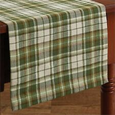 """Park Designs Cedarberry Christmas Holiday Table Runner 13"""" x 54"""" Plaid Green"""