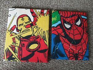 Handmade Fabric Superhero Pictures For Bedroom  iron man spiderman