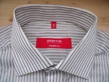 ED825 Eterna REDLINE EXCELLENT Hemd 38 Weiß Schwarz Beige Gestreift Neuwertig