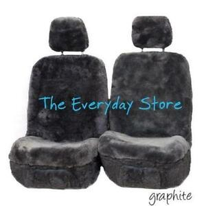 Ultra Dense Sheepskin Car Seat Covers Hyundai Sonata Pair Airbag Safe 38MM