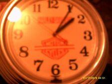 harley davidson motor cycle wall clock neon lighted large