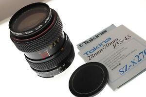 Tokina SZ-X270 28-70mm f/3.5-4.5 Ai-s F mount zoom. EXC++ cond. +man+filter.