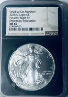 2021 (S) American Silver Eagle - Type 1- NGC MS-69 Emergency Production