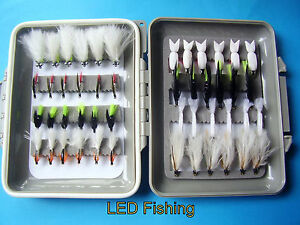 👀CLEARANCE FLYBOX 👀SELECTION 48 TRADITIONAL LONG AND SHORT SHANK LURES #10 &12