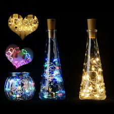 Cork Shaped Copper Wire LED String Light Wine Bottle For Decor 10 20 30 LEDS RE