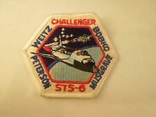 Vintage NASA Mission STS-6 Space Shuttle Challenger Embroidered Patch