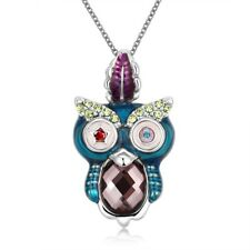 Funky POP Style Owl Necklace in Sterling Silver