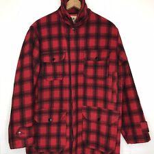 VTG WOOLRICH Hunting MACKINAW Plaid Field Coat Jacket Buffalo Plaid Wool SZ 38