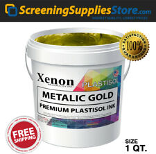 Xenon Metallic Gold Plastisol Ink For Screen Printing 1 Quart 32oz