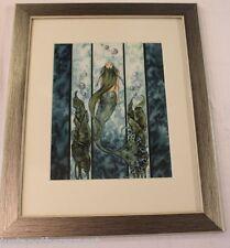 Amy Brown Signed Limited Edition Framed Print Liquid Jade Mermaid Fantasy Art
