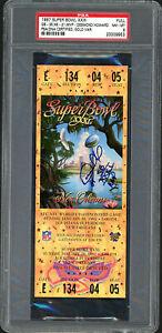 "Desmond Howard Autographed 1997 Super Bowl Ticket Packers ""SB MVP"" PSA 20009953"