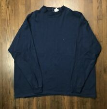Vintage Men's 90's Phat Farms Long Sleeve T Shirt Size 2XL XXL Blue Made In USA