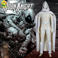 Moon Knight Cosplay Costume Jumpsuit Cloak Mask Luxious Outfit for Men Halloween