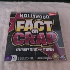 Hollywood Fact or Crap Celebrity Trivia Adult Game NEW Sealed