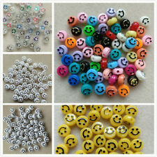 100 Emoji Smiley Faces. 10x6mm. 5 Colours. Jewellery & Crafting. UK Seller