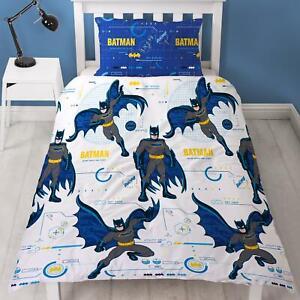 Batman Tech Single Duvet Cover Set 2-in-1 Design DC Comic Superhero Kids Bedding