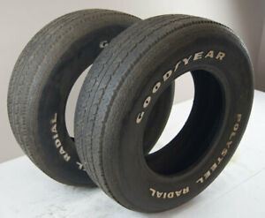 """Goodyear Polysteel Radial Tires Pair (2) P225/70/R15 Used 7/32"""" For Judging ONLY"""