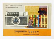 VINTAGE VOITLANDER BESSY K & AK 35mm CAMERA SALES BROCHURE ADVERTISING PAMPHLET