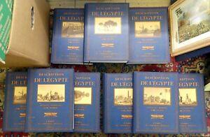 "9 Bücher aus der Reihe ""Description de l'Egypte"" guter Zustand!"
