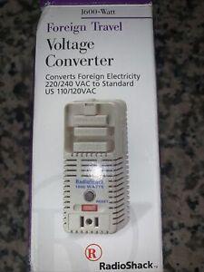Radio Shack Foreign Travel Voltage Converter Electricity 220/240 VAC 1600 Watt
