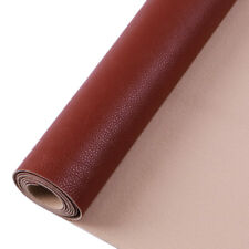 30cm*138cm Brown Faux Leather Fabric Synthetic Self-adhesive Leather Fabric
