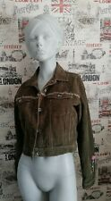 Pepe Jeans Priscilla Corduroy Green Women's Jacket Size XL 14-16 UK