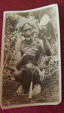 pre WW2 old woman fishing Philippians photograph