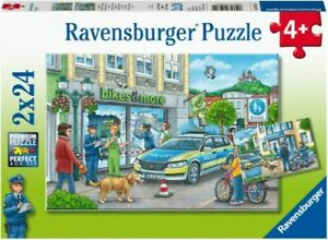 Ravensburger 05031 Police At Work 2x24 Piece Jigsaw Puzzles