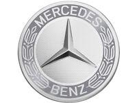 4 x orig Mercedes Benz Radnaben abdeckung Naben kappen Stern Lorbeerkranz grau
