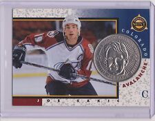 RARE 1997-98 PINNACLE MINT JOE SAKIC SILVER / NICKEL COIN & CARD #12