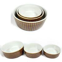 Ernest Sohn Creations Stoneware Nesting Casserole Souffle Set Mid Century Modern