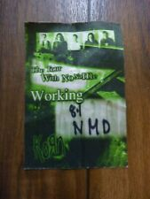 Korn Tour with No Name 2002 Working Backstage Concert Pass