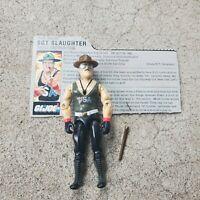Vintage GI Joe Figure 1986 Sgt. Slaughter complete with file card