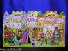 Fairy Tale Activity Books Alphabet Opposites Puzzles Preschool Shiny Stickers