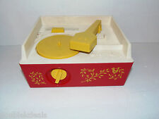 VINTAGE 1971 FISHER PRICE RECORD PLAYER MUSIC BOX #995 TOY MUSICAL WIND UP