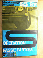 Affiche ancienne  Camion  RENAULT  SAVIEM  S5   S7     auto