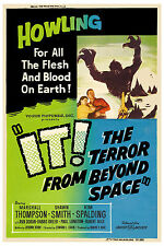 1950's Sci-Fi  * It! The Terror from  Beyond Space * Alternate Movie Poster 1958