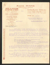 """PARIS (XV°) CHAUFFAGE CENTRAL MAZOUT & FOUR DE BOULANGERIE """"André MINNE"""" en 1930"""
